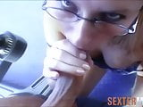 Blonde sexcasting with rimjob