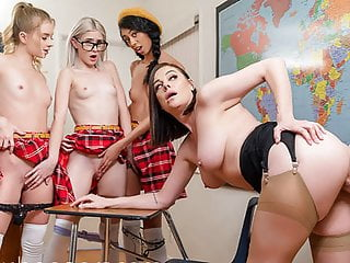 Vr bangers classroom valentines day sex party babes...