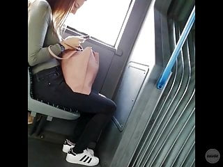 on bus the vouyeur teen Candid