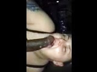 Sucking a large big black cock