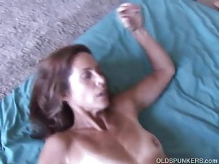 Slim older babe enjoys a in ass hole...