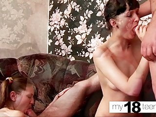 Amateur - MY18TEENS Blowjob Lesbians Party - an College Orgy