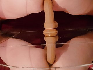 ass Hot rides cock a young on