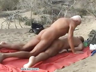 Old men beach fuck