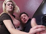 Heavily pierced German housewife fucking and sucking
