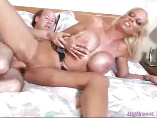 Huge breasts blonde takes big cock fucked in pussy