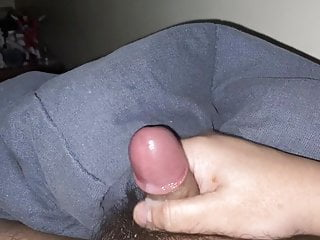 Small hairy asian cock cums