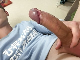 Young Naughty Boy Loves to Play with his Big Toy  Uncut