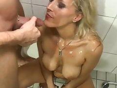 Golden Shower For Hot German Wife
