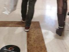 Shiny Lurex Spandex Spandex Pvc Pvc Love Glove Pants Leggings