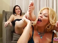 Addie, worshipped and tickled