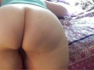 BBW spreading her thick ass