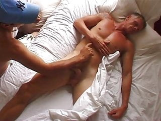 Surfer daddy gets woken up with sex
