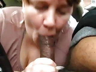 Chubby Mature Amateur Treating Black Dick In Car