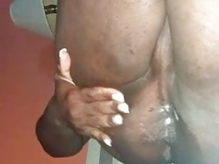 Big black bbw tranny girl dildoing ass...