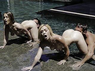 Daughterswap sexy stepdaughters dick underwater...