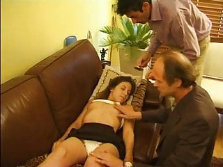 french teen with two older men