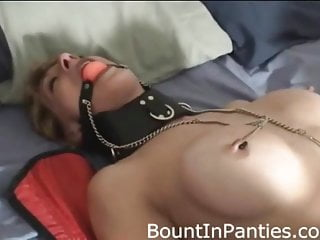 Milf Femdom Bdsm video: They hogtied and gagged me and put me in fishnets