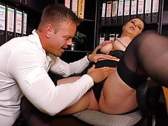 chubby mom gets anal sex in the officefree full porn