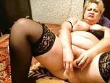 Fat Russian mature mom webcam show