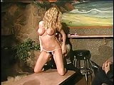 Hot big tits blonde gets pussy sucked and fucked on table