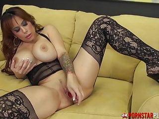 Pornstarplatinum Busty Milf Alyssa Lynn Solo In Stockings
