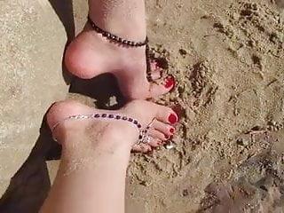 High arch beach feet