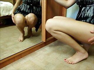 nice legs crouching down 7