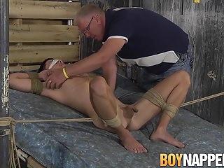 Toy master Sebastian Kane makes his submissive cum hard